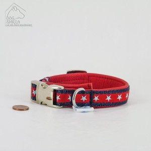 """Mini Leder Halsband """"Stars"""" rot  24,90€"""