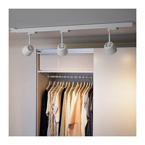 Skeninge Track With 3 Led Spotlights White 3 3 4 Ikea Ikea Lamp Ceiling Installation