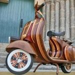 Vespa made out of wood