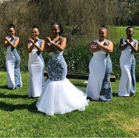 African Weddings African Bridesmaids African Bridesmaid Dresses African Traditional Wedding Dress