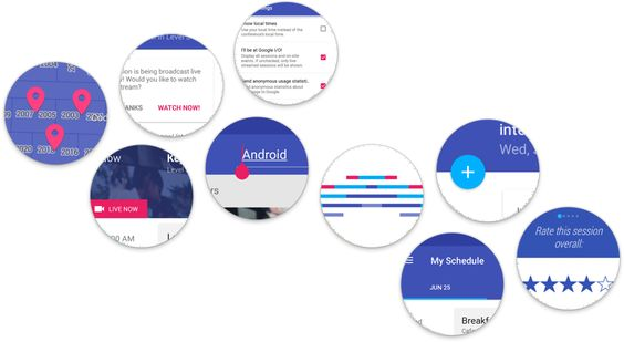 Material design in the 2014 Google I/O app — Medium (Color and UI)