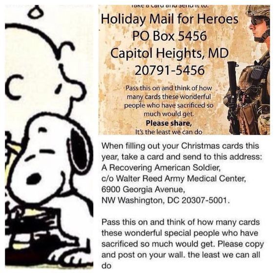 Sending cards to our Soldiers (note: one has a deadline)