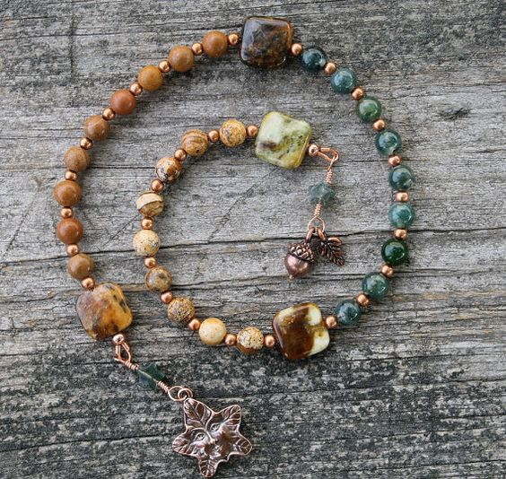 Spirit of Trees Pagan Prayer Beads Shades of Autumn by inkleing, $23.50