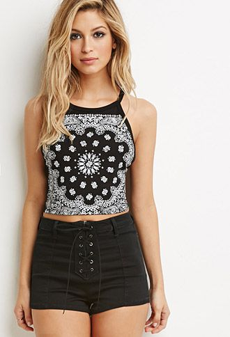 paisley print strappy halter forever 21 thelatest