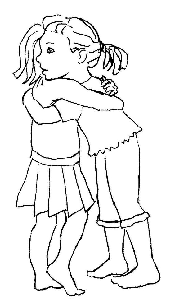 coloring pages two girls | Pinterest • The world's catalog of ideas