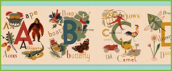 A child's Alphabet- love the graphics!