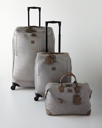 Brics Life Frosted Silver Luggage