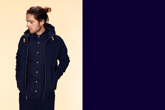 Men's Fall/Winter 2013 Collection Cedar Hoodie, Oak Shirt, Bristol Pant