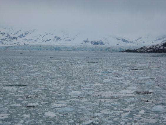 Heading in by ship to seeHubbard Glacier
