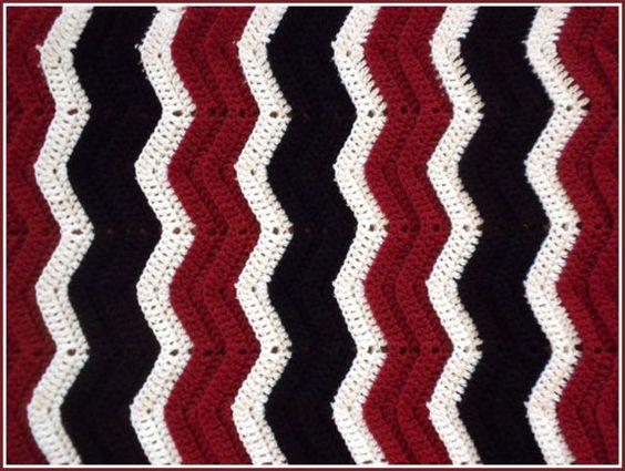 Handmade Crochet Burgundy Red, Black and White Chicago Bulls ...