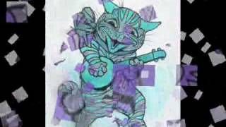 Louis Wain's Far-Out Crazy Cats, via YouTube.: Cat Art, Crazy Cats, Wain S Far Out, Wain S Cat, Wine Cat, Louis Wain S, Far Out Crazy, St. Louis