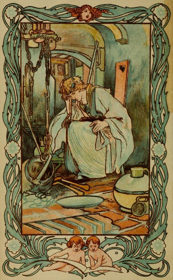Cinderella -- Charles Robinson -- Fairytale Illustration: