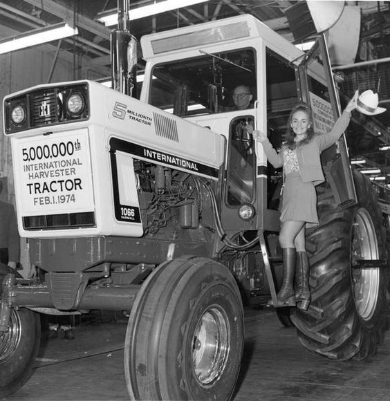 Hailing the 5,000,000th International Harvester Tractor | Photograph | Wisconsin Historical Society
