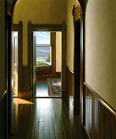 """Guest House"" by Edward Gordon - This was one of the first E.G paintings I ever saw when I was 13.  I fell in love."