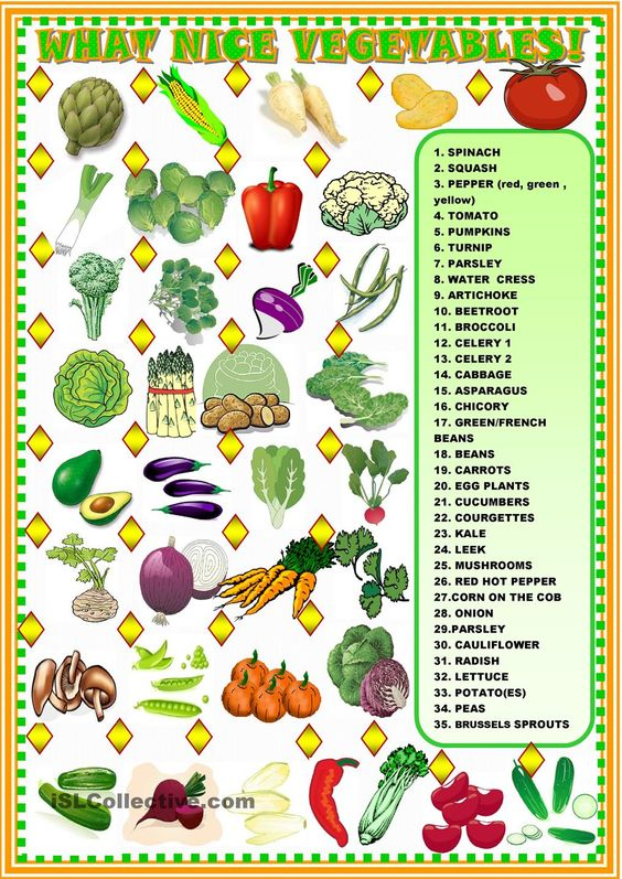 What nice vegetables!: matching: