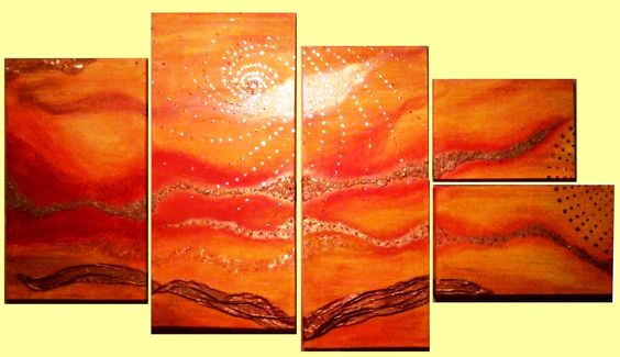 Cuadro Abstracto Exclusivo con aplicaciones en cobre https://www.facebook.com/pages/Deconativa/386545078067061?ref=hl