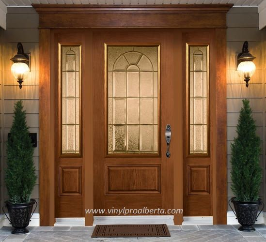 Cheap entry doors with side lights fiberglass entry door for Exterior side entry doors