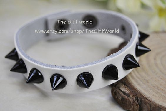 NEW Rivets cuff leather braceletGothic braceletman by TheGiftWorld, $5.50 Personalized fashion handmade leather bracelet,the best gift of friendship.