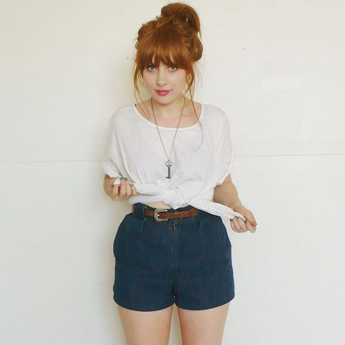 I'm going to have my hair like this and clothes like this once in my life....