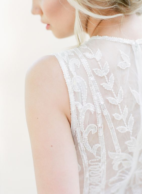 Gorgeous beaded lace dress detail: http://www.stylemepretty.com/vault/gallery/38136 | Photography:  ARTIESE Studios - http://www.artiesestudios.com/