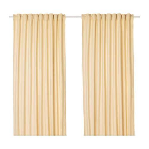 Tibast Curtains 1 Pair Yellow Yellow 57x98 Curtains Yellow Curtains Ikea