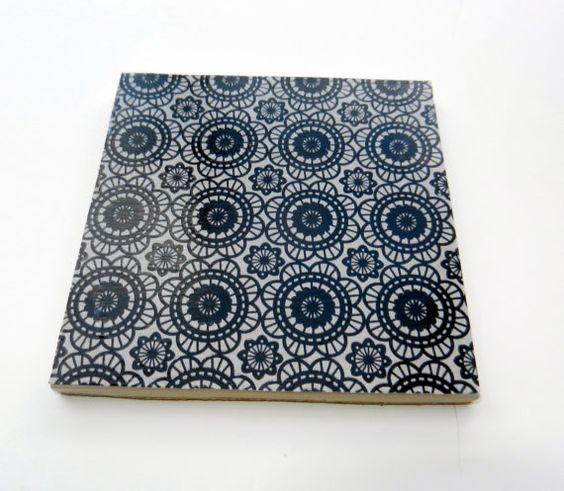 Black and White Patterned Ceramic Coaster Set by CloudNineDesignz, $20.00