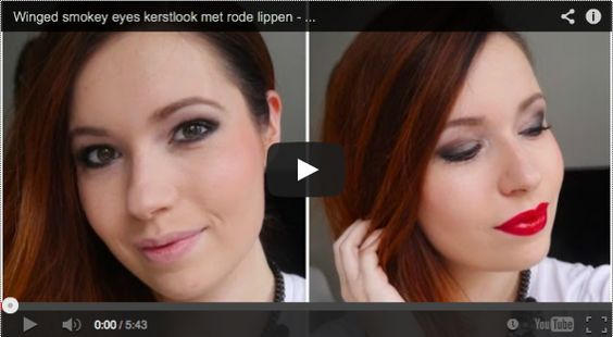 Video: Winged smokey eyes kerstlook met rode lippen