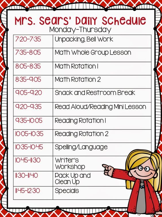 daily schedules  teaching and unique on pinterest