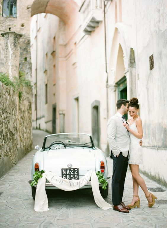 Take a break from wedding planning stress to think about details for your honeymoon with your S.O.! http://www.stylemepretty.com/2015/09/17/ways-to-stay-in-love-while-planning-a-wedding/