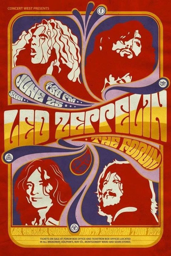 The One And Only Led Zeppelin The Forum Los Angeles Ca Concert Music Concert Posters Led Zeppelin Poster Rock Poster Art