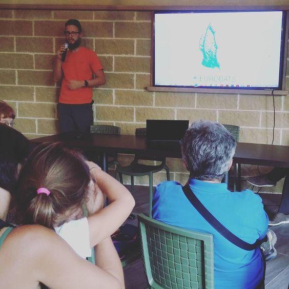 Michele Ferretto di #biosphaera al #parconaturaviva durante il weekend della scienza dedicato a #pipistrelli e micromammiferi #weekendscienza #telmopievani