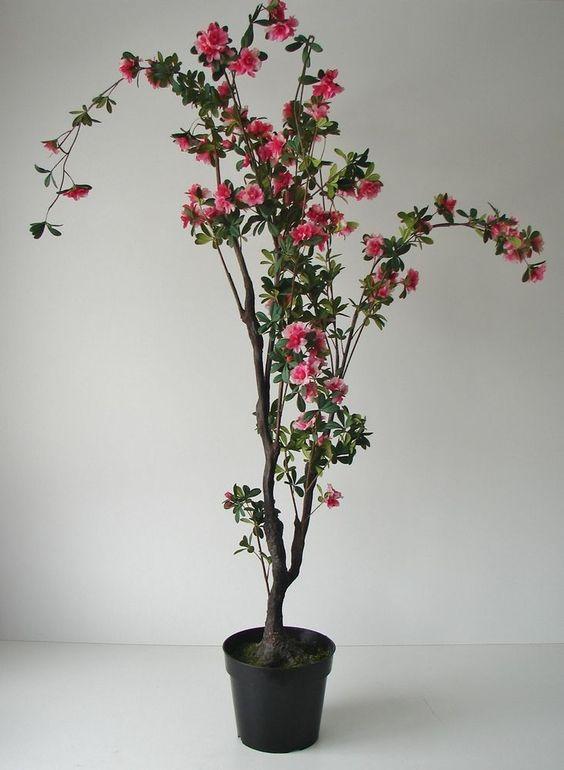 Künstliche Azalee 170cm Kunstblumen künstliche Pflanzen Dekobaum Azaleen Blumen
