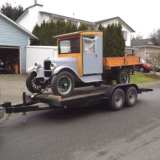 Herman and I brought home this 1927 Chevy pickup! Now we want to sell it.  Any takers?