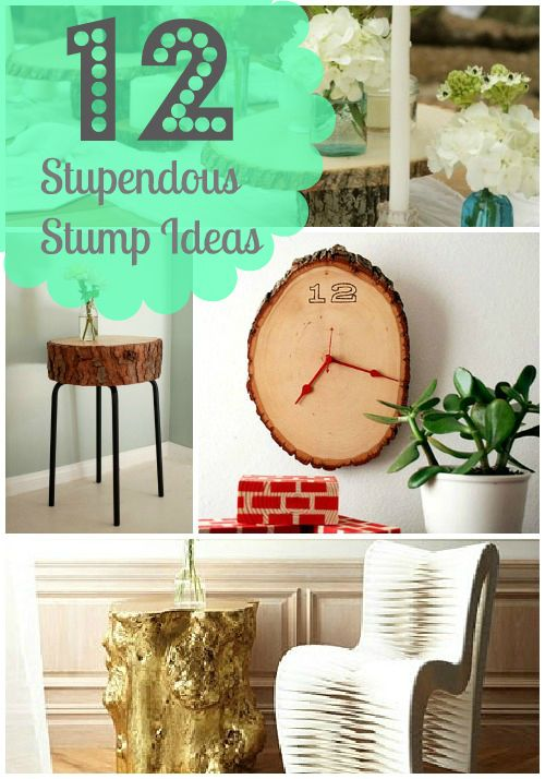 12 Stylish DIY Tree Stump Ideas