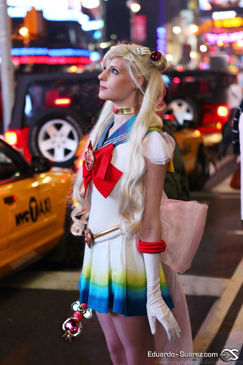 Sailor Moon in Times Square by Mnemosyneforgot.