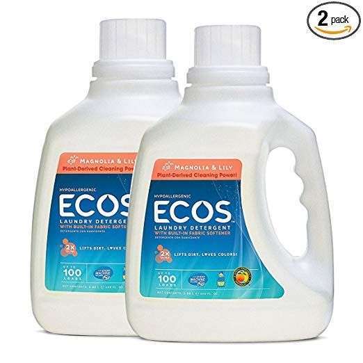 Earth Friendly Products Ecos 2x Liquid Laundry Detergent Magnolia Lily 200 Loads 100 F Laundry Detergent Best Laundry Detergent Lavender Laundry Detergent