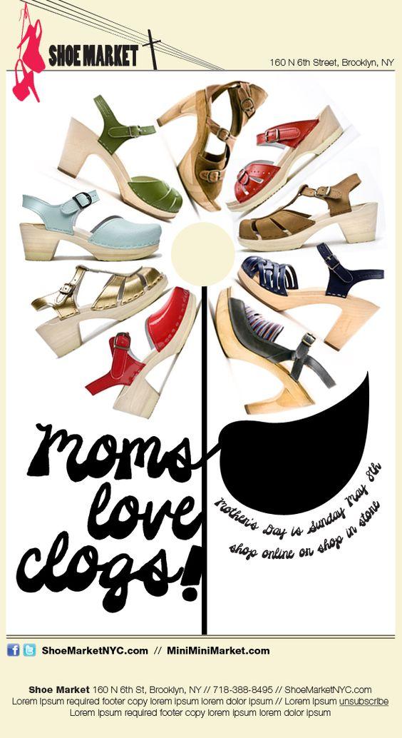 Email Campaign Designs for Shoe Market & Mini Mini Market