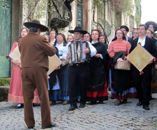 Portuguese Folk Music, Adufeiras de Penha Garcia, Centro de Portugal Region, Portugal by Julie Dawn Fox