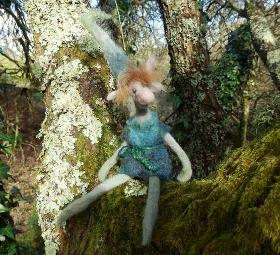 Sprite elf wimsical fairy friend OOAK Nature Art by HomeOfGnomes