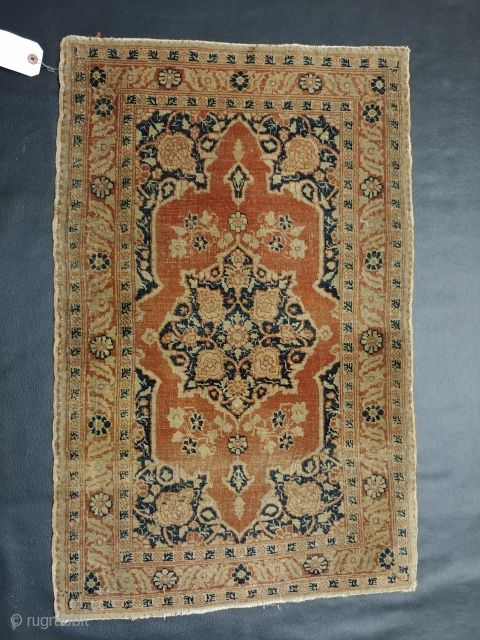 A Sweet Little 19th Century Hadji Jalili Tabriz Mat Or Pushti With A Beautiful Apricot Field Still Very Supple With Edge Rug Gallery Antique Rugs Bohemian Rug