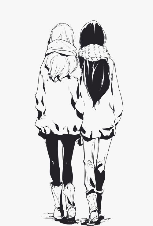 Beautiful Anime Girls Beste Freunde Anime Zeichnung Madchen Malen