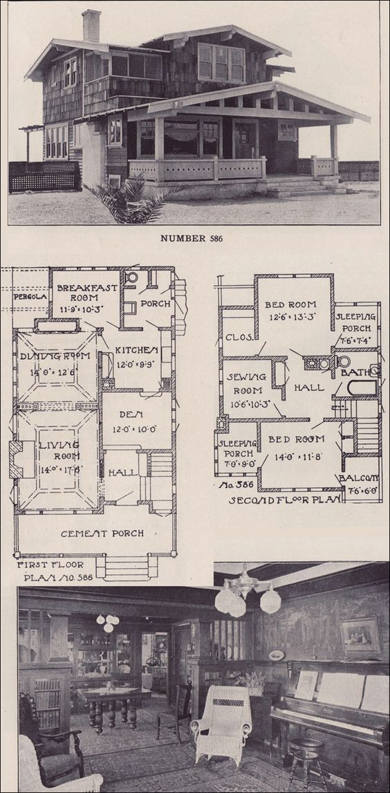 1912 california two story bungalow los angeles California bungalow floor plans