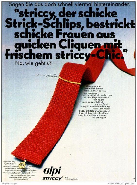 Original-Werbung/ Anzeige 1969 - MODE / ALPI STRICCY - ca. 180 x 240 mm
