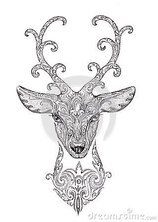 La Imagen Estilizada, Tatuaje De Un Ciervo Hermoso Del Bosque Dirige Con El Cuerno - Descarga De Over 45 Millones de fotos de alta calidad e imágenes Vectores% ee%. Inscríbete GRATIS hoy. Imagen: 50637759