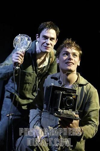 Outlying Islands, play by David Greig, with Laurence Mitchell and Sam Heughan at the Traverse, part of Edinburgh Festival Opening August 2002