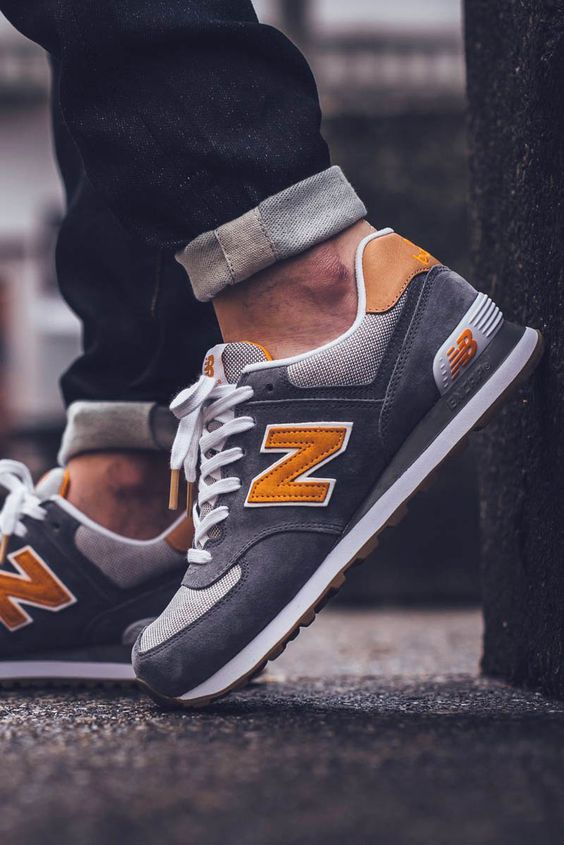 new balance 574 mens navy with rust