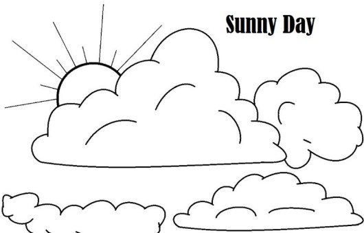 Sunny Day Weather Conditions Coloring Printable Page Moon Coloring Pages Star Coloring Pages Coloring Pages For Kids
