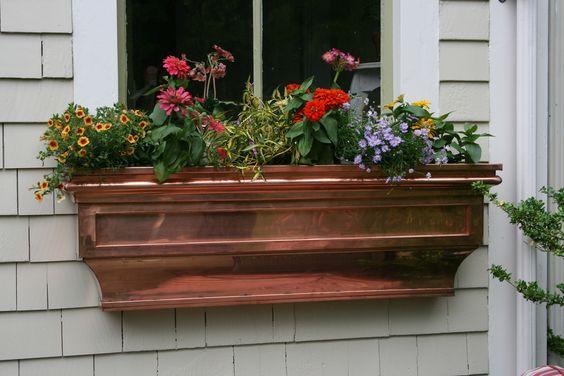 Copper Flower Box
