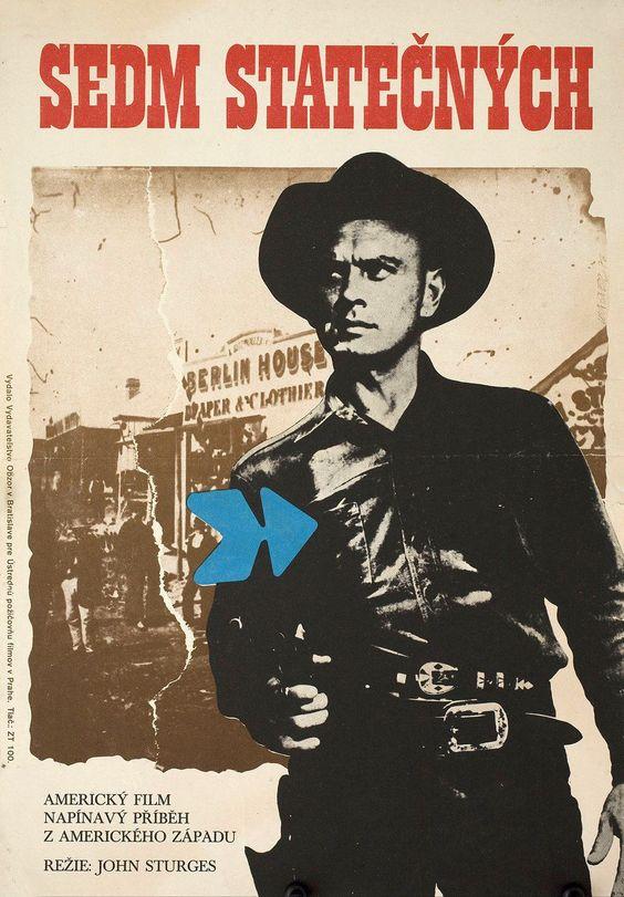 The Magnificent Seven R1976 Original Czech Republic Movie Poster