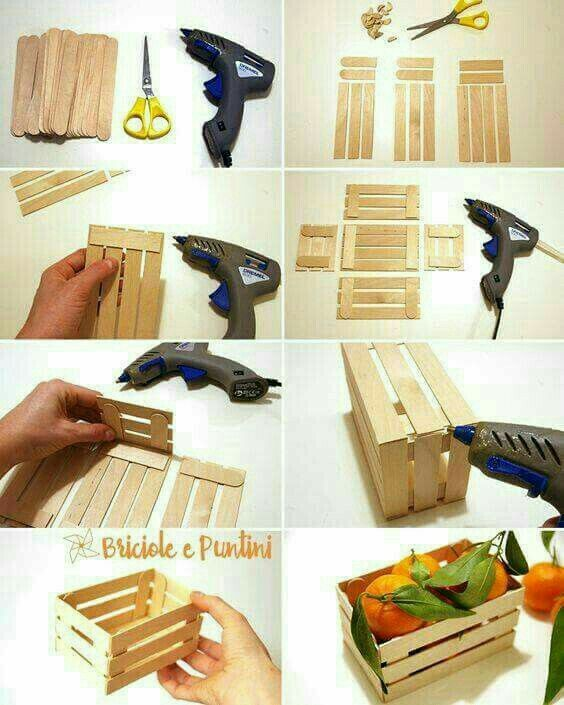 Pin By Marilyn On Decorating Wooden Box Diy Craft Stick Crafts